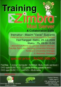 Poster Training Zimbra