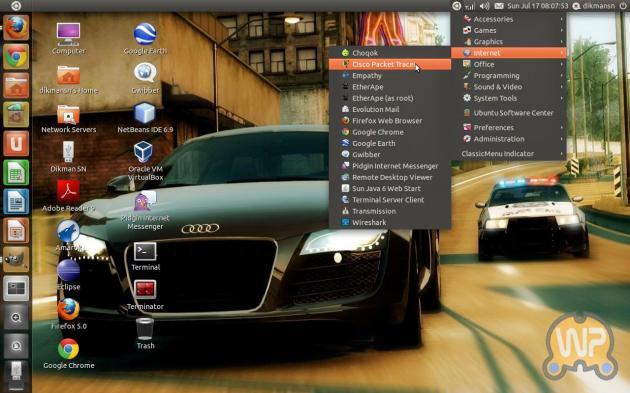 ClassicMenu Indicator Ubuntu 11.04